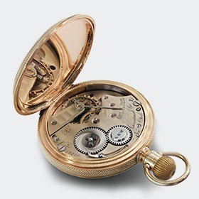Hunter-Pocket watch with Movement Jones Pattern R - Nr. 12273 - 1875